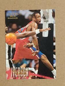 1996-97 Fleer Allen Iverson Rookie card