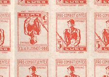Guerra Civil De España - 3246-Prpaganda 5c Naranja Tete-beche en hoja completa de 50
