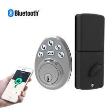 Signstek Bluetooth Keypad Deadbolt Door Lock with Single Cylinder Satin Nickel
