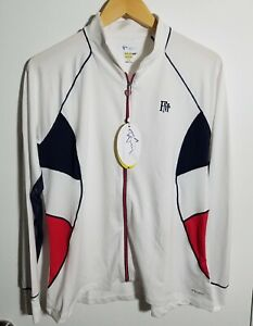 1 NWT WOMEN'S GREG NORMAN JACKET, SIZE: LARGE, COLOR: WHITE/NAVY/RED (J300)