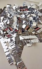 Lot of Silver Color Foil Strips From Poly Mailers Different Lengths Crafting