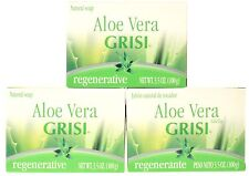 GREAT HEAL MOISTURIZE CLEAN 3 PACK GRISI ALOE VERA SOAP SABILA JABON