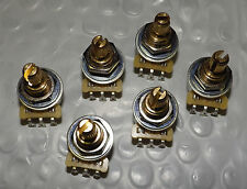 CTS Mini Pot 6 PIECE BULK PACK Potentiometer Audio Taper 250K NEW Split Shaft