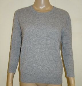 Just Cashmere 100% Cashmere Sweater Buttoned In The Back Grey Small VR79 013
