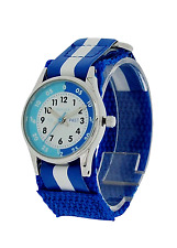 Reflex Boys Time Teacher Blue Fabric Velcro Watch REFK0001