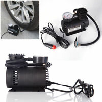 12V CAR ELECTRIC MINI COMPACT COMPRESSOR PUMP TYRE AIR INFLATOR 300PSI+CABLE