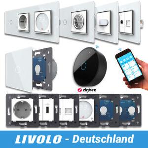 LIVOLO ZigBee WLAN Lichtschalter SmartHome Glas Touch & Steckdosen USB uvm WEISS