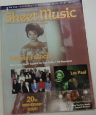 Sheet Music Magazine Connie Francis & Les Paul January/February 1997 012615R