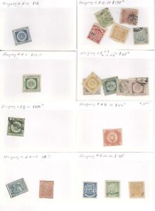 URUGUAY, Excellent assortment of Classic Stamps, forgeries