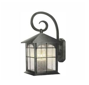 Home Decorators Brimfield 3-Light Aged Iron Outdoor LARGE Wall Lantern