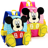 Toddler Kids Girls Cartoon Mickey Mouse Backpack Rucksack Schoolbags Book Bags