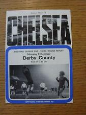 09/10/1972 Chelsea v Derby County [Football League Cup Replay]