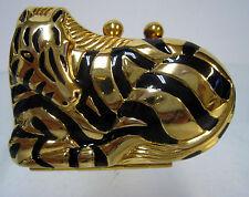 New Zebra Shaped Gold & Black Pill Box Zebras Pills Boxes