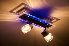 2 spots sur rail Plafonnier Lampe suspension Luminaire de salon Wofi Métal 35329