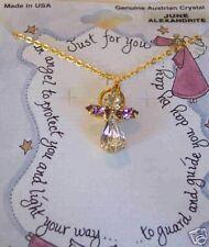 Austrian Crystal Month Angel Necklace June Alexandrite