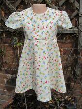 Girls Short Sleeved Dress, Cream, Ballet, 3-4 years, New, Handmade