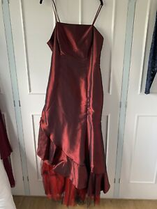 Burgundy Prom Or Evening Dress Size 16