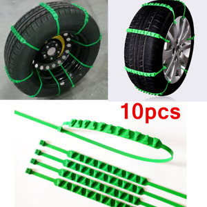 10× Car Wheel Accessories Anti-skid Snow Tire Chain Nylon Strap Belt Universal