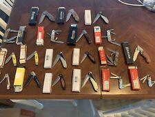 Collection 18 Knives Wenger Swiss Army Browning Puma Winchester Schrade Magnum