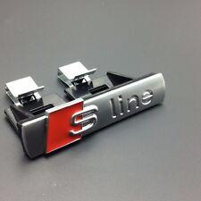 Genuine S Line Sline Sticker Car Front Grille Adhesive Emblem Badge Audi