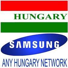 HUNGARY SAMSUNG GALAXY NOTE 8 S8 S7 S7 EDGE S6 S5 A5 A3 NOTE 5 4 3 UNLOCK CODE