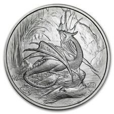 Nordic Creatures  Nidhoggr dragon .999 fine 1oz silver BU coin w/ Box & COA