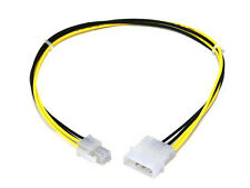 4 Pin MOLEX to ATX P4 CPU 4Pin 12V PSU Power Supply Connector Adapter Cable