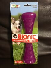 Outward Hound Bionic Urban Stick Durable Fetch and Chew Toy for Dogs M Purple