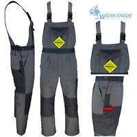 Arbeitslatzhose Grau 100% Baumwolle Schutzkleidung Arbeitshose Gr. 46 - 62