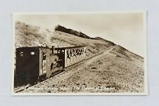 More details for postcard mountain railway snowdon english series unposted real photo rp