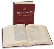 Biblia de Jerusalen - Revisada y Aumentada - LETRA GRANDE -Pasta Dura Con Uñeros