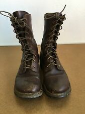 Vintage Boots WWII Combat Paratrooper Jump Brown Leather Beebe Bros USGI 7.5E GT