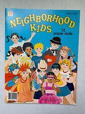 VINTAGE - Neighborhood Kids Paper Doll Book - Whitman