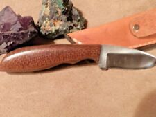 "6 1/2"" FILE KNIFE WITH CUSTOM HANDLE OF BURLAP MICARTA -BY LEE"