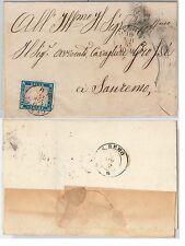 ANTICHI STATI - SARDEGNA : Sassone 15 su BUSTA da  GENOVA - 10.11.1855