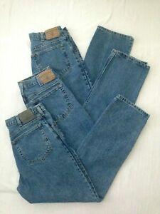 Lot~3 ARIZONA Relaxed Fit Denim JEANS Pants~Mens Tag 33x30~Actual 31x30~BLUE~USA
