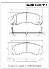 Disc Brake Pad Set-CERAMIC PADS Front Dash 4 Brake CD530