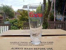 24  COORS LIGHT 10oz HALF PINT GLASSES 2016 + 100 FREE COASTERS Free Shipping UK