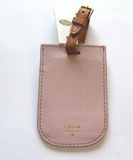 Fossil Paige Luggage Tag- rectangular shape-  lavender- buckle strap