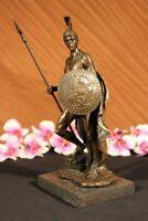 Art Deco Roman Soldier Warrior Bronze Sculpture Statue Figurine Decor Hot Cast