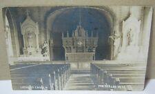 Catholic Church Interior 1909 Antique Photo Postcard Waterloo Wi  T*