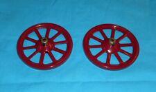 meccano roues de 75mm à moyeu, No19a rouge