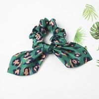 Leopard Print Knotted Elastic Bow Hair Rope Scrunchies Hair DIY Scarf R4A4