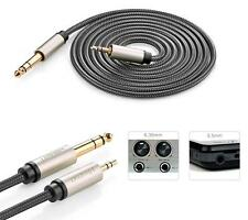 """UG 3.5mm Male to 6.35mm 1/4"""" TRS Stereo Audio Headphone Adapter Cable 3M -US W"""