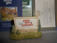 Lilliput Lane Sign of the Times Mint in Box With Deed