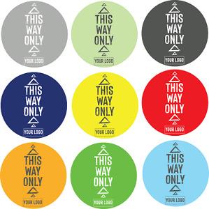 Social Distancing Floor Sticker/Decals - Anti Slip, Custom Logo, This Way Only