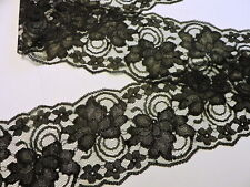 """Black Lace 4 """"wide 5yds (or more) Wedding Sewing Invitations Runners made in U.S"""