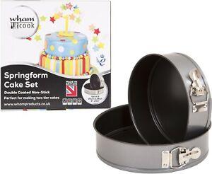 Wham Cook Teflon 2 Piece Springform Cake Tin Set 24cm & 20cm FREEPOST