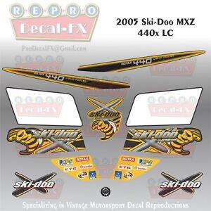2005 Ski-Doo MXZ 440x LC Graphics Reproduction 12 Piece Vinyl Decals