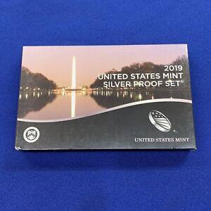2019-s US Mint SILVER Proof Set. 10 coin set. PLUS 'W' CENT